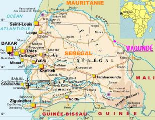Situation Géographique de Waoundé